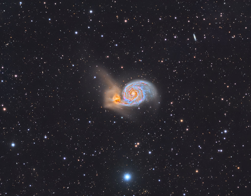 M51, Wirlpool Galaxy, aipastroimaging, aip